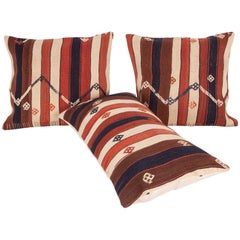 Kilim Pillow Cases Fashioned from an Eastern Anatolian Kilim, Early 20th Century