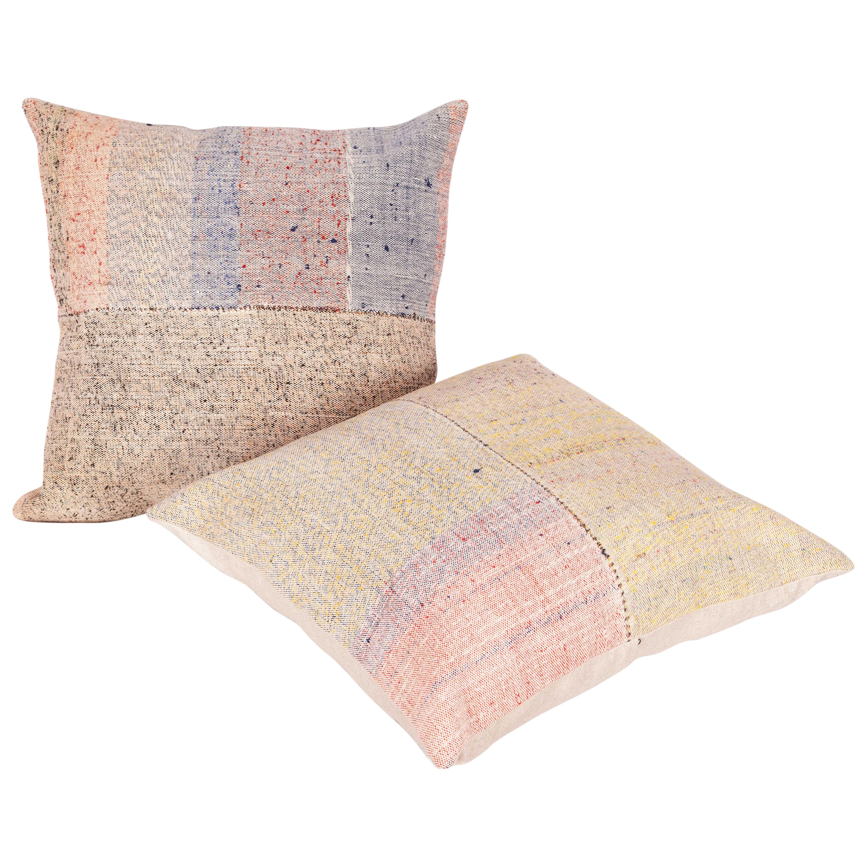 Kilim Pillow Cases Made from a Vintage Anatolian Kilim