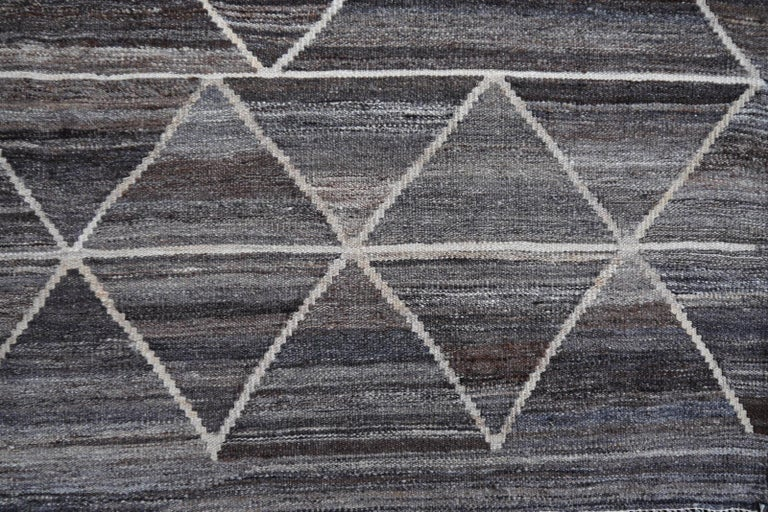 Afghan 17 x 12 ft Rug Contemporary Modern 21St Century Neutrals Oversize Gray Brown  For Sale