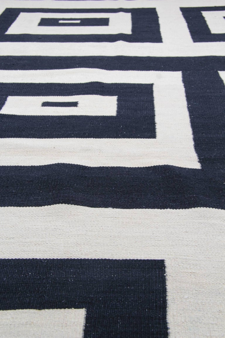 Contemporary Kilim Rugs, Carpet from Afghanistan, Modern Striped Kilim Rugs, For Sale
