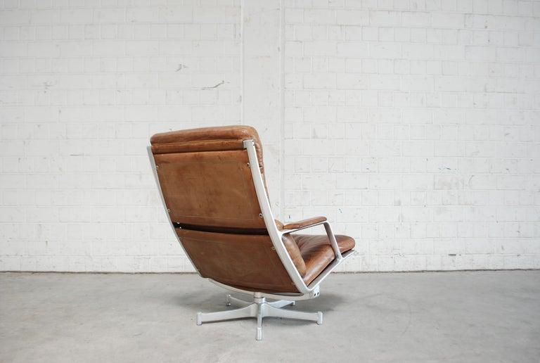 Kill International FK 85 Lounge Chair Cognac Leather design Kastholm / Fabricius For Sale 4