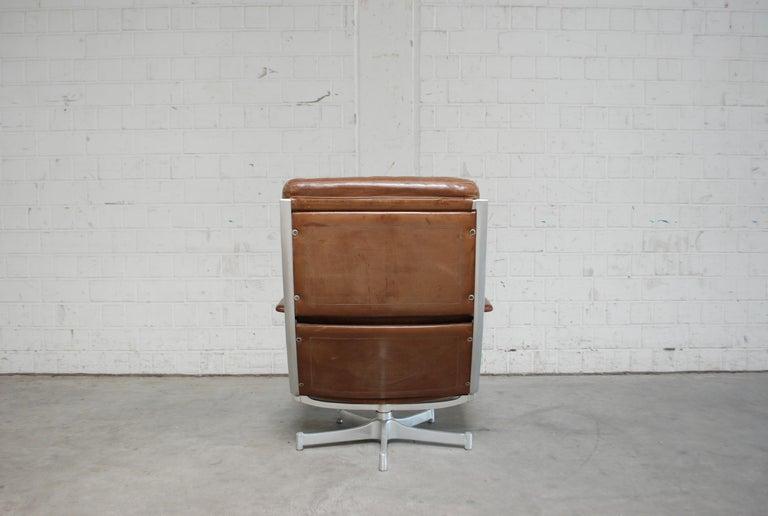 Kill International FK 85 Lounge Chair Cognac Leather design Kastholm / Fabricius For Sale 5