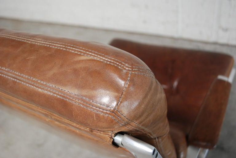 Kill International FK 85 Lounge Chair Cognac Leather design Kastholm / Fabricius For Sale 6