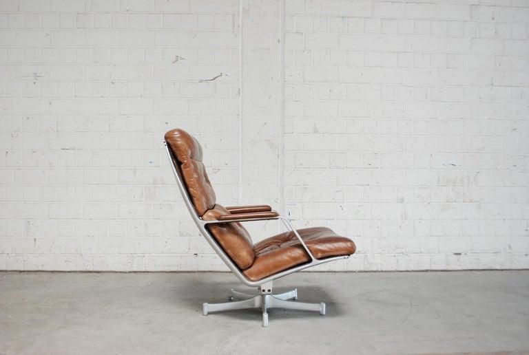 Kill International FK 85 Lounge Chair Cognac Leather design Kastholm / Fabricius For Sale 7