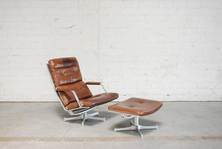 Kill International FK 85 Lounge Chair Cognac Leather design Kastholm / Fabricius For Sale 9