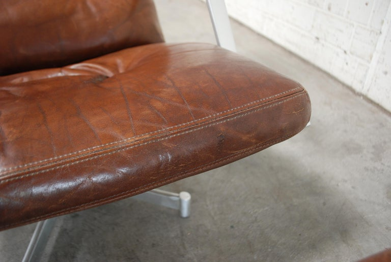 Kill International FK 85 Lounge Chair Cognac Leather design Kastholm / Fabricius For Sale 12