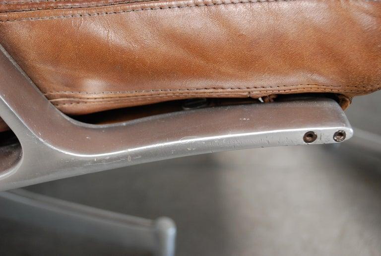 Kill International FK 85 Lounge Chair Cognac Leather design Kastholm / Fabricius For Sale 13