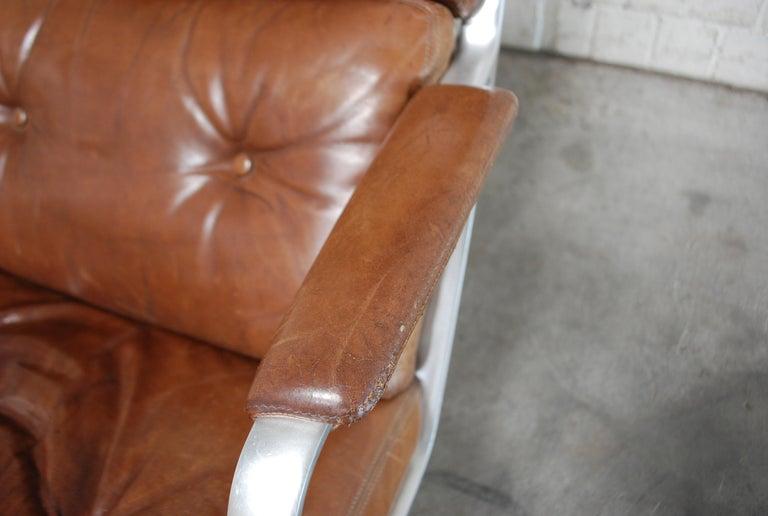 Kill International FK 85 Lounge Chair Cognac Leather design Kastholm / Fabricius For Sale 2