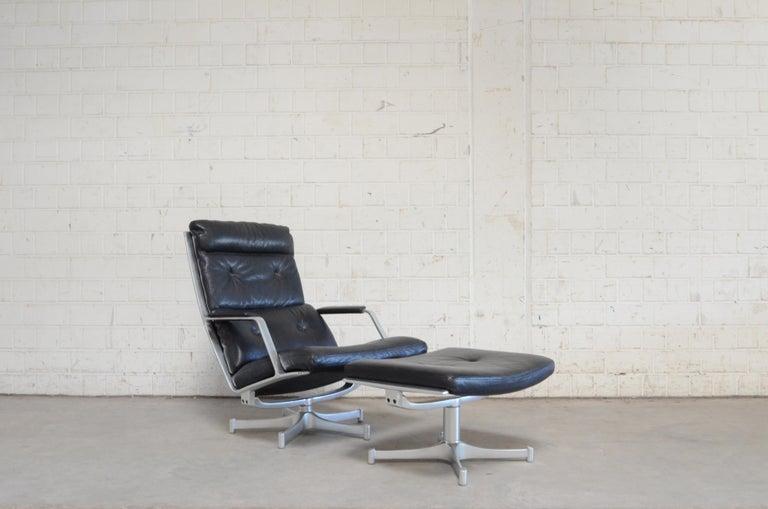 Kill International FK 85 Lounge Chair Cognac Leather Design Kastholm / Fabricius For Sale 3