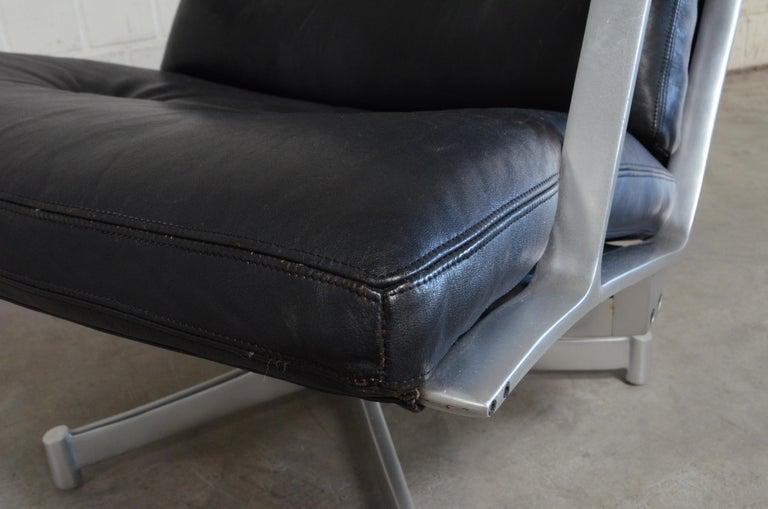 Kill International FK 85 Lounge Chair Cognac Leather Design Kastholm / Fabricius For Sale 8