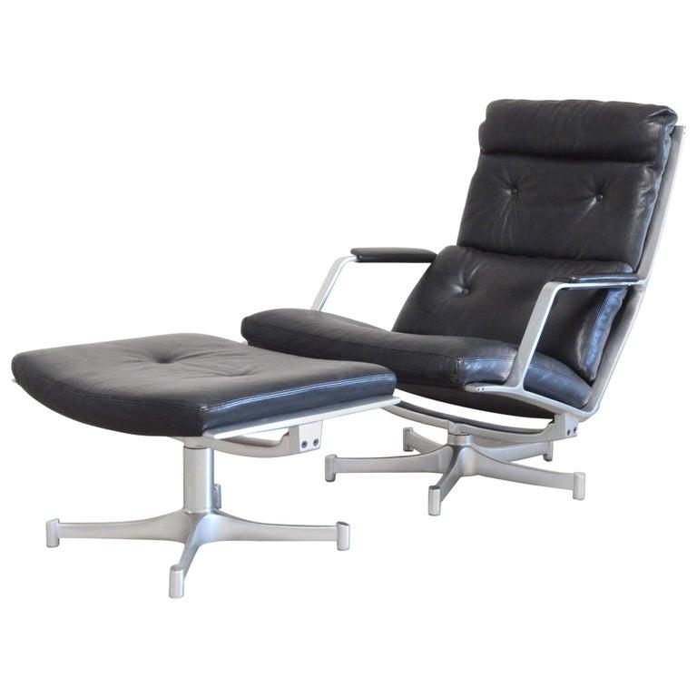 Kill International FK 85 Lounge Chair Cognac Leather Design Kastholm / Fabricius For Sale