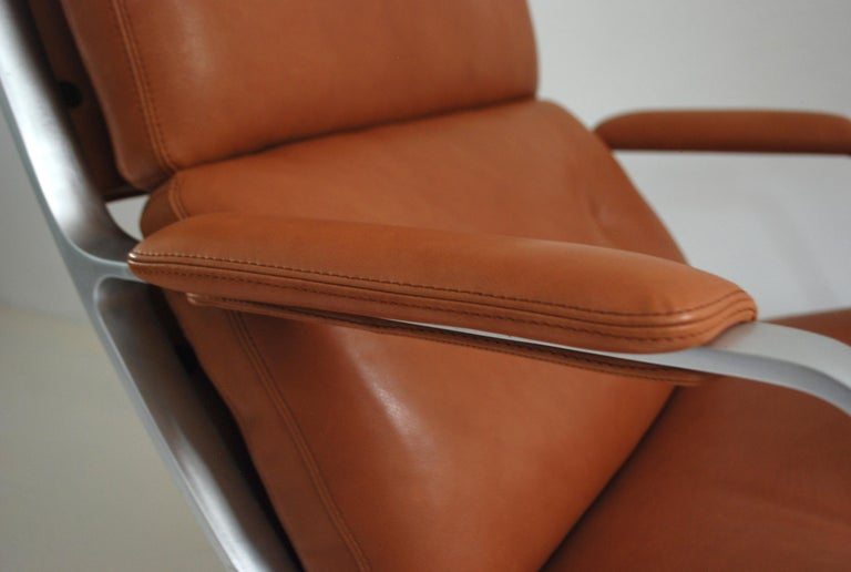 Kill International FK 85 Lounge Chair Cognac Natural by Kastholm & Fabricius For Sale 7