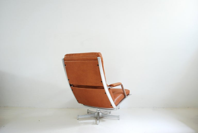 Kill International FK 85 Lounge Chair Cognac Natural by Kastholm & Fabricius For Sale 9