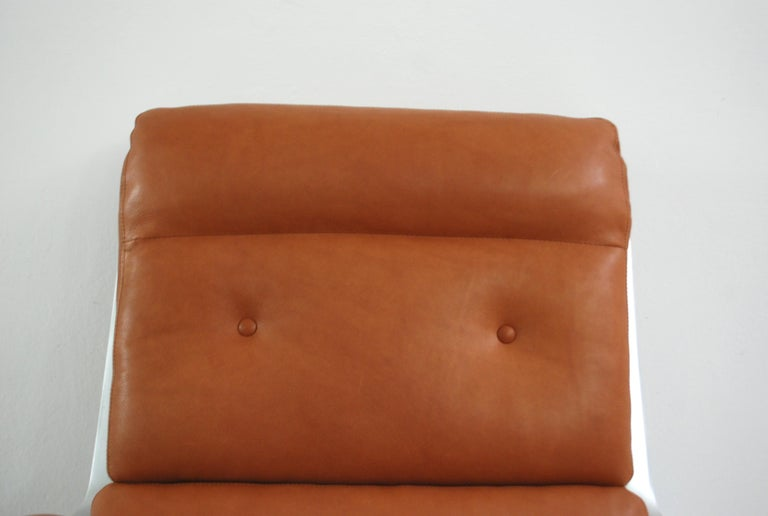 Mid-20th Century Kill International FK 85 Lounge Chair Cognac Natural by Kastholm & Fabricius For Sale