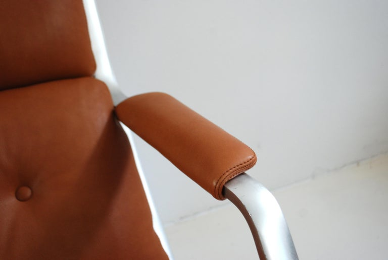 Kill International FK 85 Lounge Chair Cognac Natural by Kastholm & Fabricius For Sale 2
