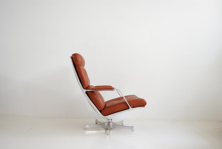 Kill International FK 85 Lounge Chair Red Cognac by Kastholm & Fabricius For Sale 9
