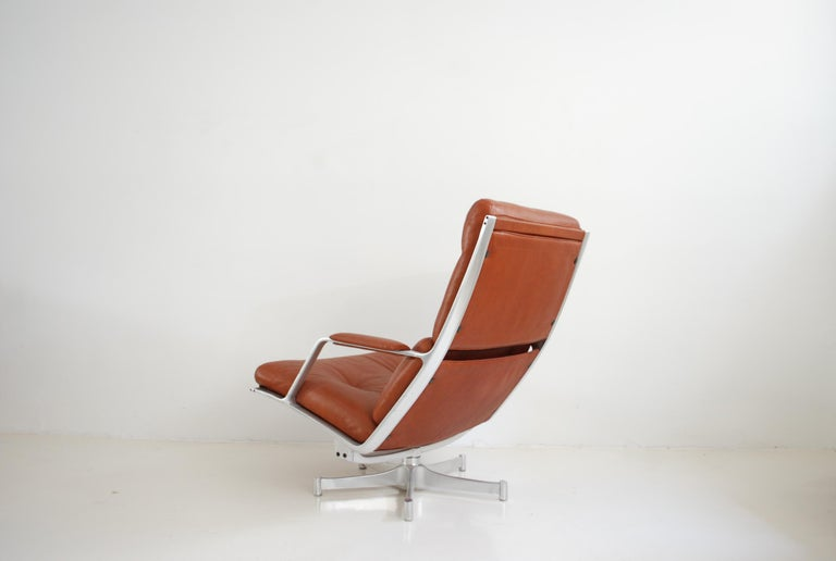 Kill International FK 85 Lounge Chair Red Cognac by Kastholm & Fabricius For Sale 10