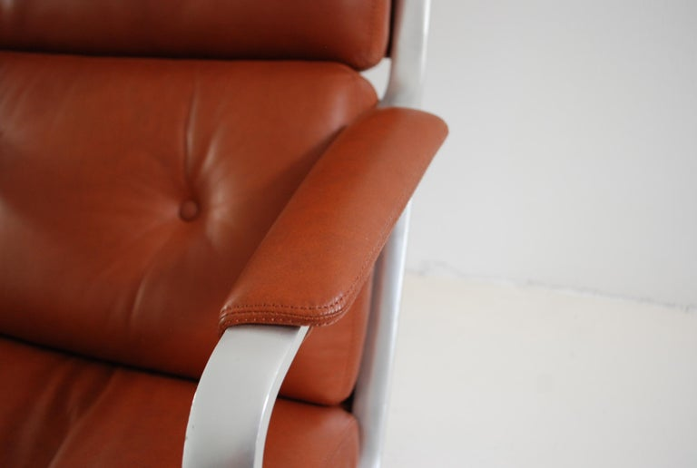 Mid-20th Century Kill International FK 85 Lounge Chair Red Cognac by Kastholm & Fabricius For Sale