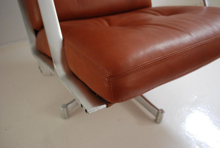 Kill International FK 85 Lounge Chair Red Cognac by Kastholm & Fabricius For Sale 2