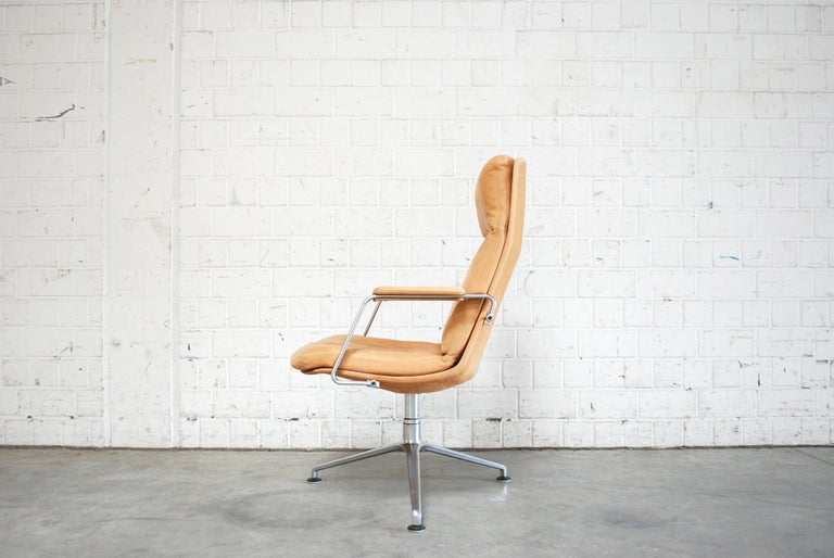 Kill International FK 86 Office Chair Cognac Leather by Kastholm & Fabricius For Sale 4