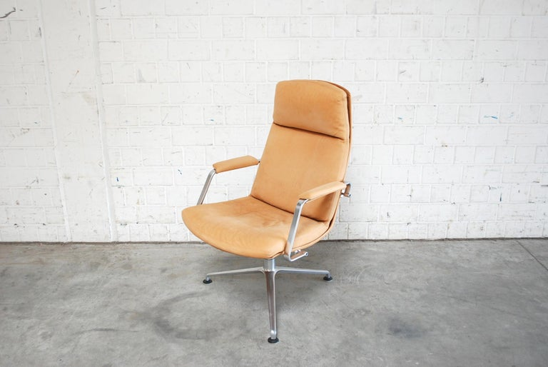 Kill International FK 86 Office Chair Cognac Leather by Kastholm & Fabricius For Sale 5