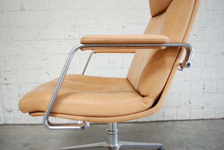 Kill International FK 86 Office Chair Cognac Leather by Kastholm & Fabricius For Sale 8