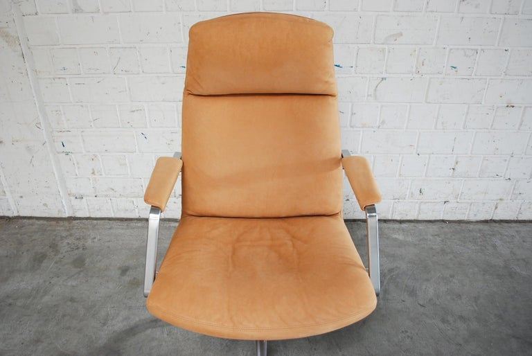 Mid-Century Modern Kill International FK 86 Office Chair Cognac Leather by Kastholm & Fabricius For Sale