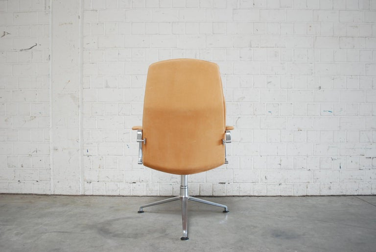German Kill International FK 86 Office Chair Cognac Leather by Kastholm & Fabricius For Sale