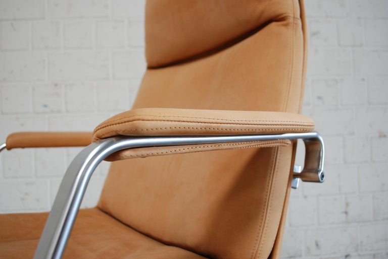Mid-20th Century Kill International FK 86 Office Chair Cognac Leather by Kastholm & Fabricius For Sale