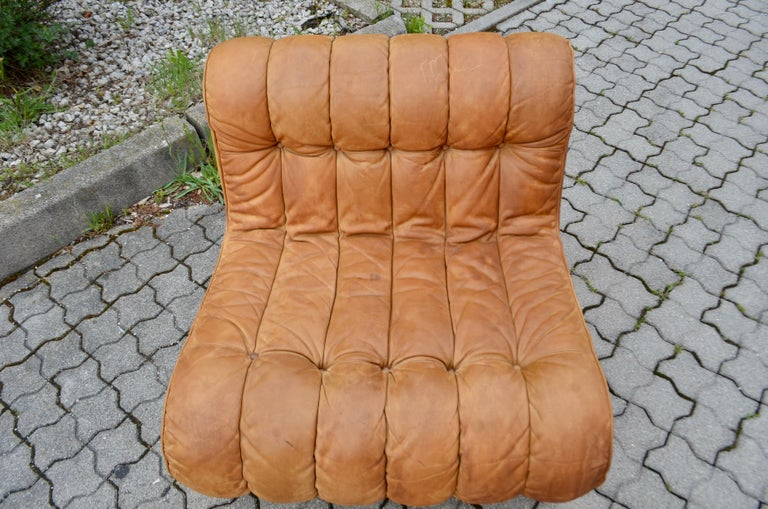 Kill International Germany Vintage Sectional Lounge Cognac Leather Sofa, 1960s For Sale 3