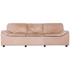 Kill International Golf Designer Sofa Leather Beige Three-Seat Couch from 1984