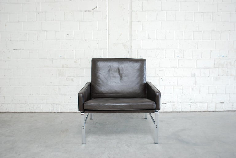 Mid-Century Modern Kill International Model 6720 Lounge Chair Armchair by Kastholm & Fabricius For Sale