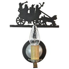 Killarney Jaunting Carriage Single Candle Sconce