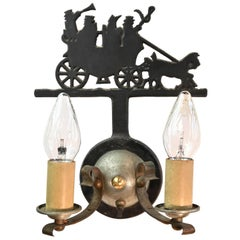 Killarney Jaunting Carriage Two Candle Sconce