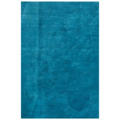 Kilombo Home 21st Century Hand Tufted Wool Rug made in Spain Blue Waves