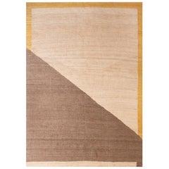 Kilombo Home 21st Century Handwoven Jute Carpet Rug Geometric in Natural Colors