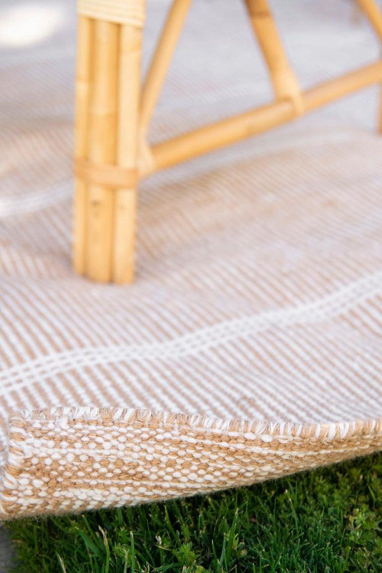 Kilombo Home 21st Century Handwoven Polypropylene Outdoor Rug Bambu Beige For Sale 4