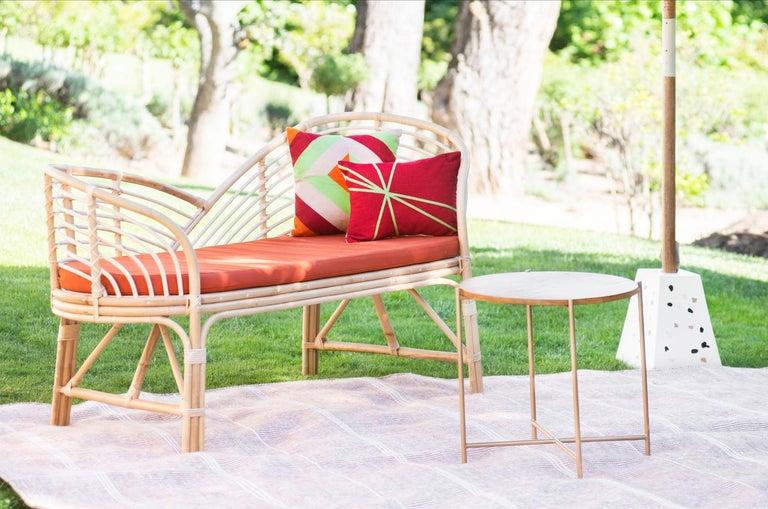 Kilombo Home 21st Century Handwoven Polypropylene Outdoor Rug Bambu Beige For Sale 5