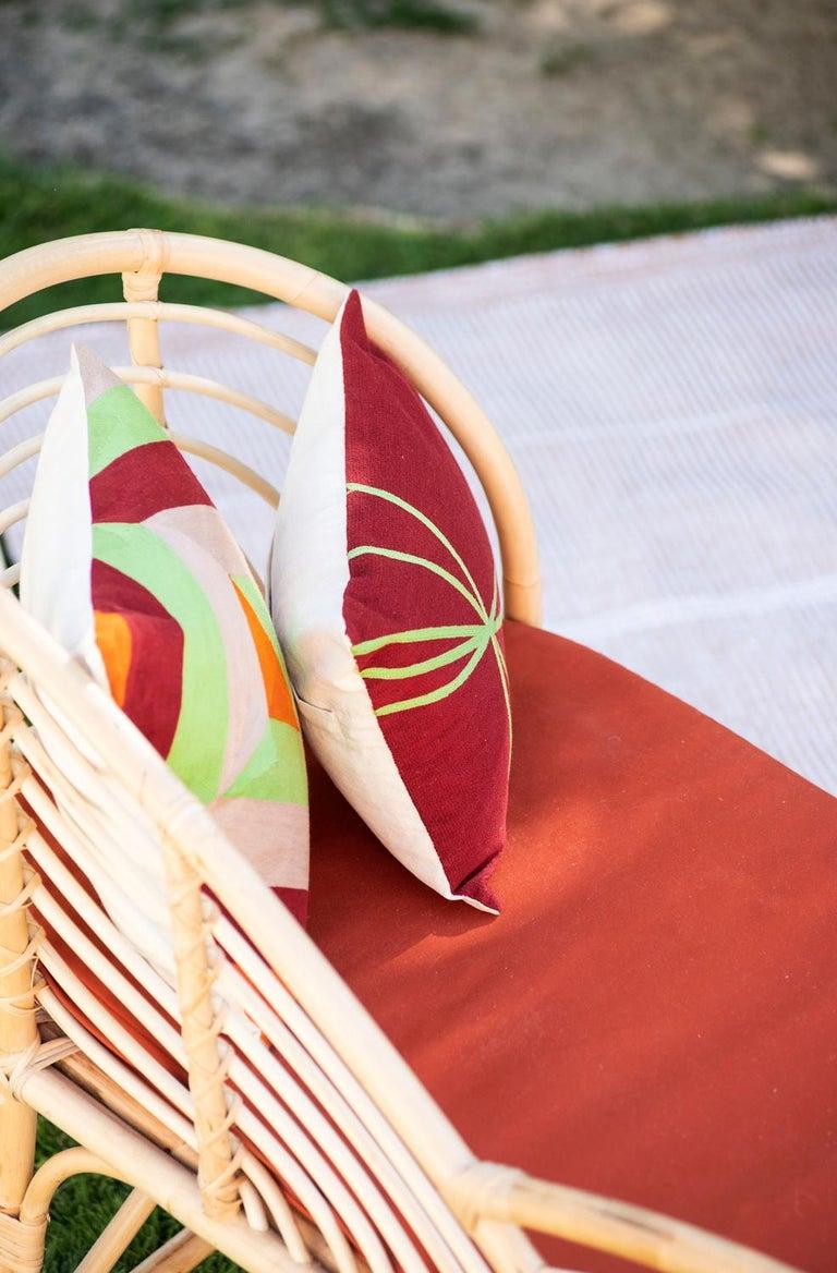 Kilombo Home 21st Century Handwoven Polypropylene Outdoor Rug Bambu Beige For Sale 6