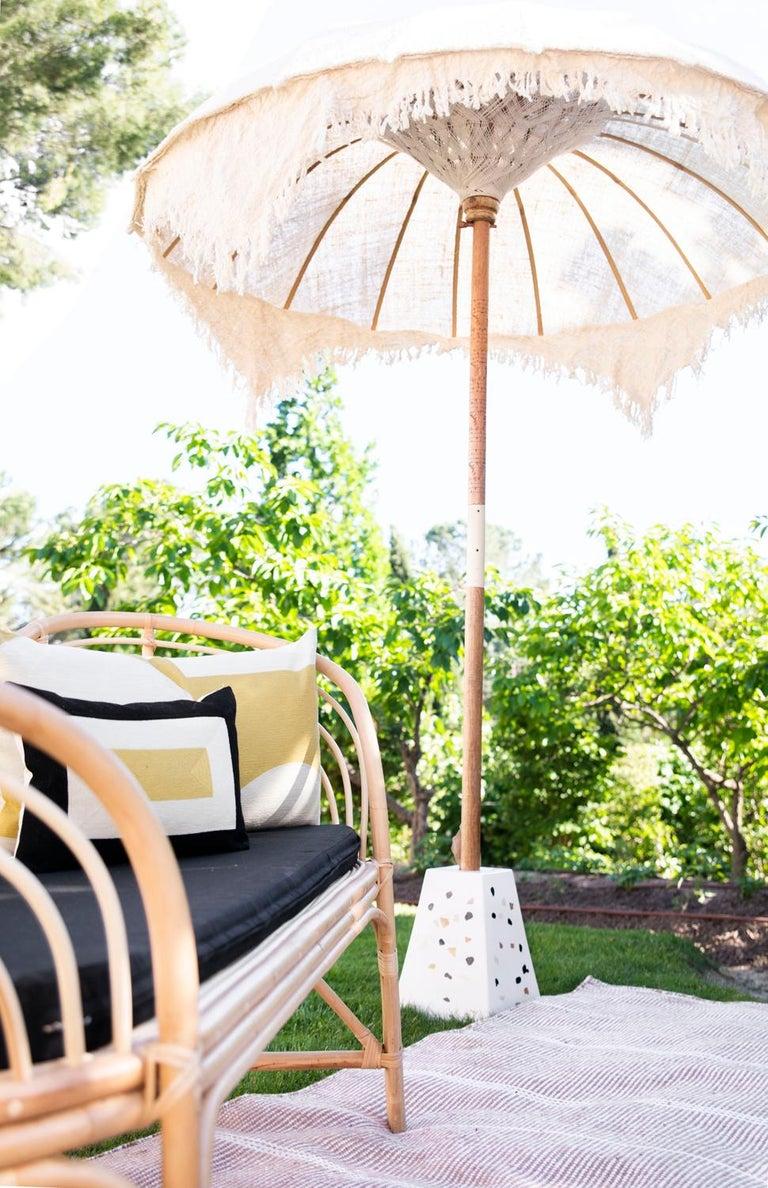 Kilombo Home 21st Century Handwoven Polypropylene Outdoor Rug Bambu Beige For Sale 10