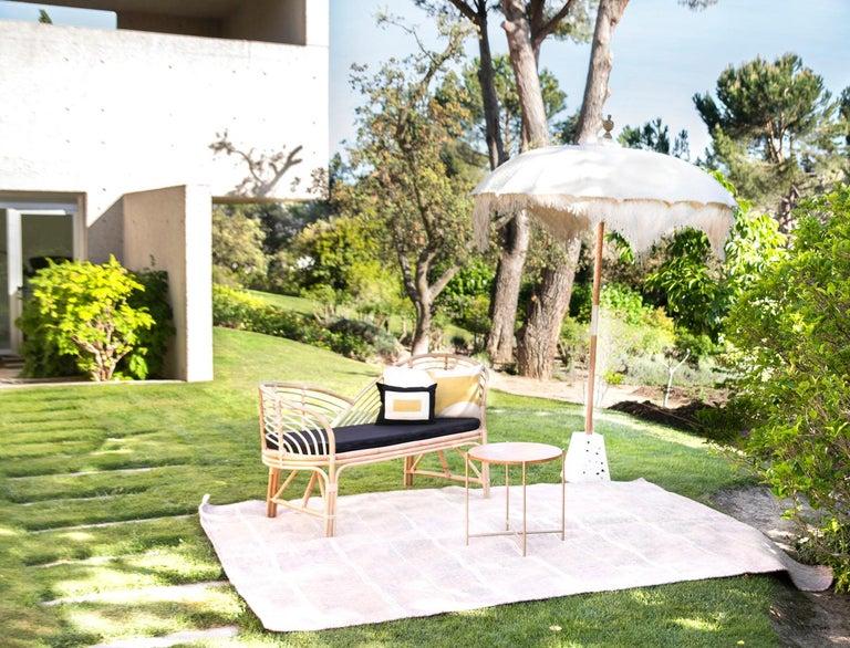 Kilombo Home 21st Century Handwoven Polypropylene Outdoor Rug Bambu Beige For Sale 12