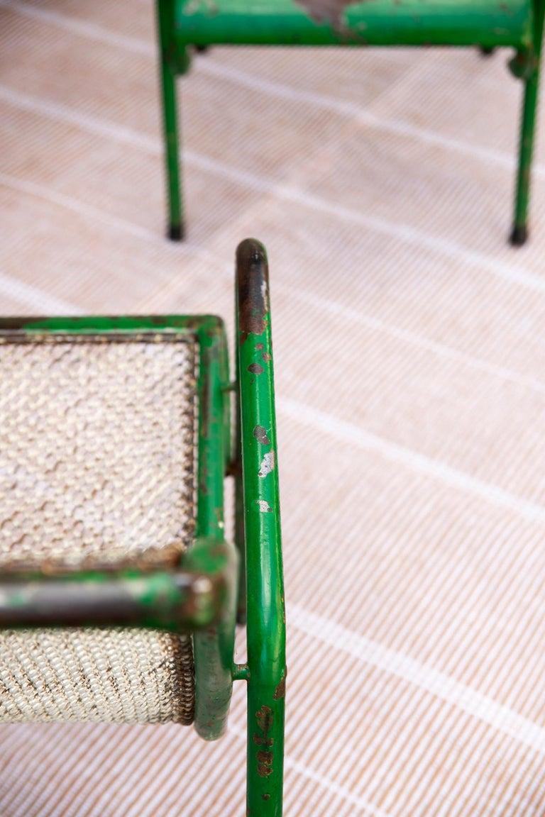 Hand-Woven Kilombo Home 21st Century Handwoven Polypropylene Outdoor Rug Bambu Beige For Sale
