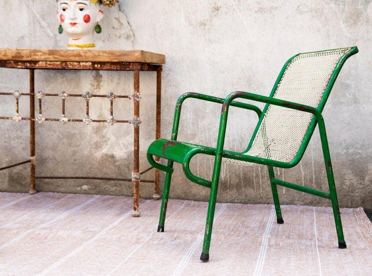 Contemporary Kilombo Home 21st Century Handwoven Polypropylene Outdoor Rug Bambu Beige For Sale