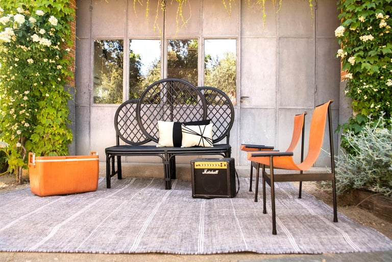 Kilombo Home 21st Century Handwoven Polypropylene Outdoor Rug Bambu Grey For Sale 12