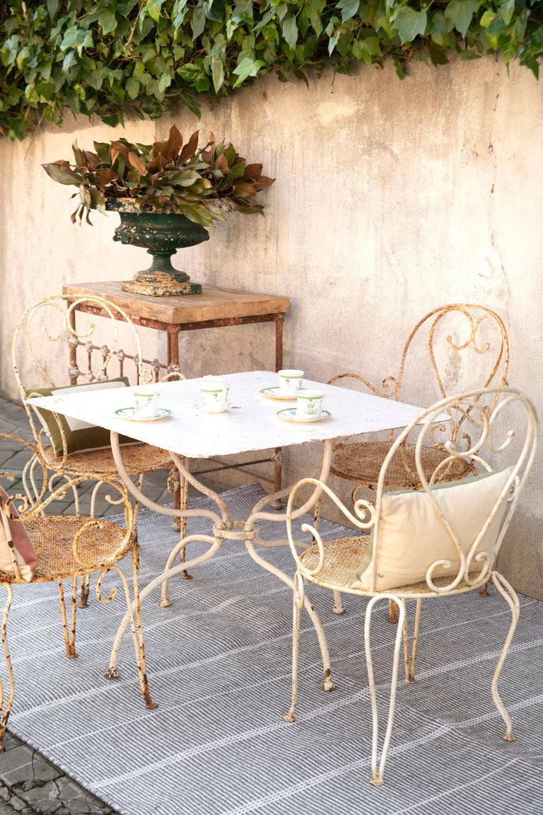 Contemporary Kilombo Home 21st Century Handwoven Polypropylene Outdoor Rug Bambu Grey For Sale