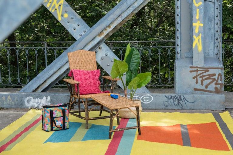 Modern Kilombo Home 21st Century Handwoven Polypropylene Outdoor Rug Machu Picchu For Sale