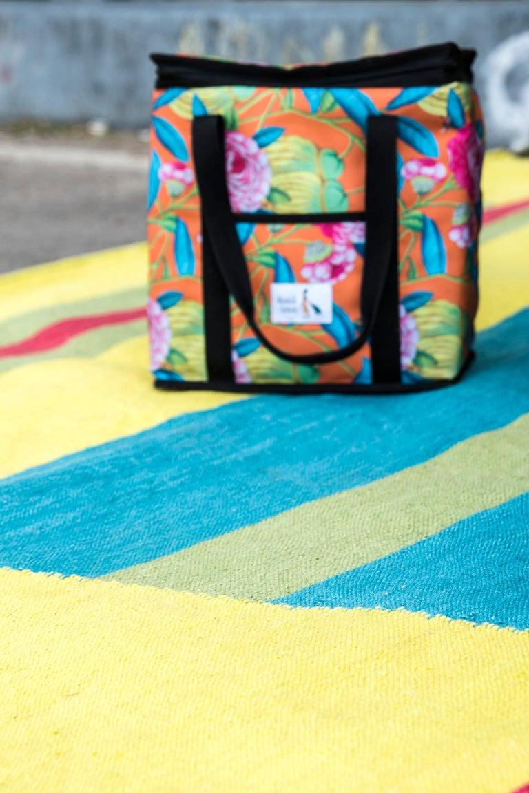Indian Kilombo Home 21st Century Handwoven Polypropylene Outdoor Rug Machu Picchu For Sale