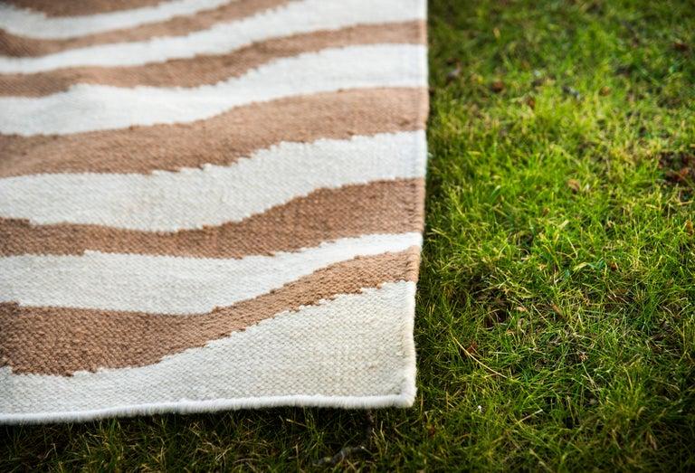 Acrylic Kilombo Home 21st Century Handwoven Polypropylene Outdoor Rug Sauvage Brown For Sale