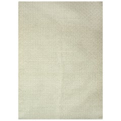 Kilombo Home 21st Century Handwoven Wool Rug in Green and White