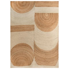 Kilombo Home 21st Century Modern Handwoven Jute Carpet Rug by  in Natural Colors